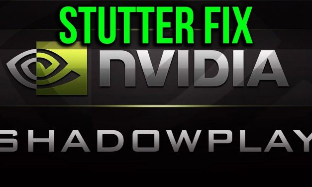 Shadowplay Stuttering Video & Audio Sync Fix 2018