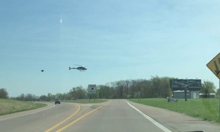 Mom Is Afraid To Drive Under Helicopter