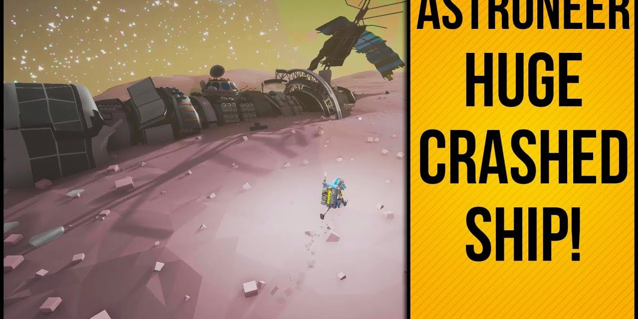 Huge Crashed Ship On Moon | Astroneer