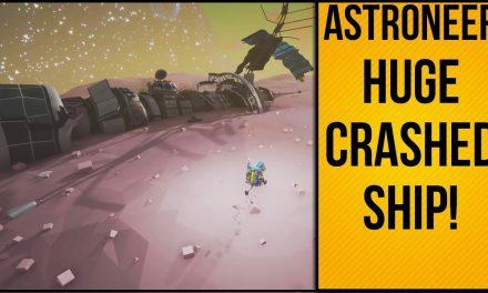 Huge Crashed Ship On Moon | Astroneer