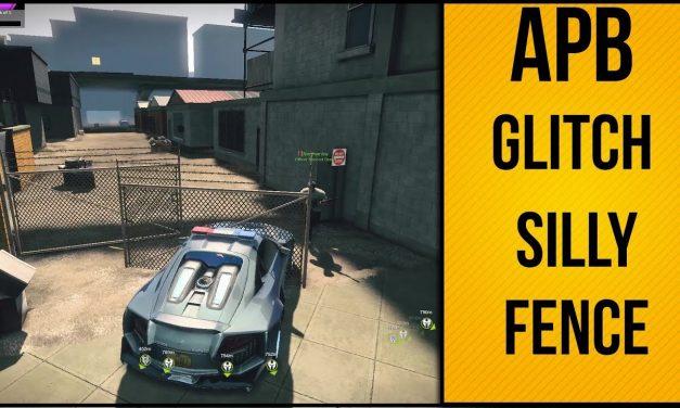 Silly Fence Glitch | APB Reloaded