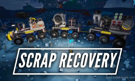 My Astroneer Scrap Recovery Rover Train