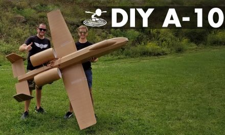 Giant 8-Foot A-10 Warthog For less than $50 in materials