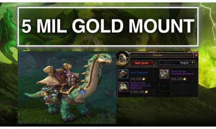 The 5 Million Gold Mount | World Of Warcraft – BFA