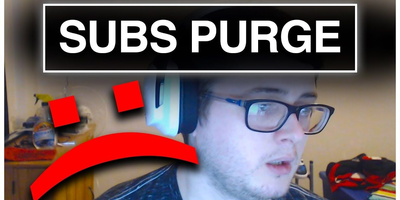 Huge YouTube Subscriber Purge And How It Affected My Channel