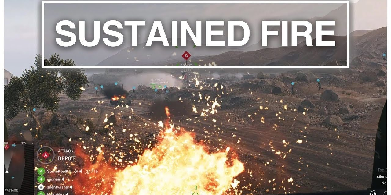 Sustained Fire Using A Churchil Tank On Objective A – Battlefield 5