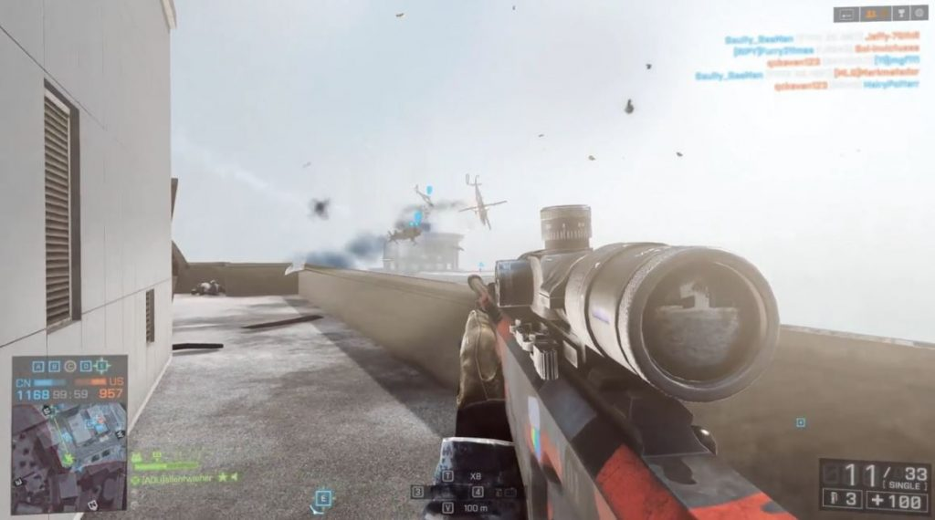 Battlefield 4 Dancing Helicopters Highlight