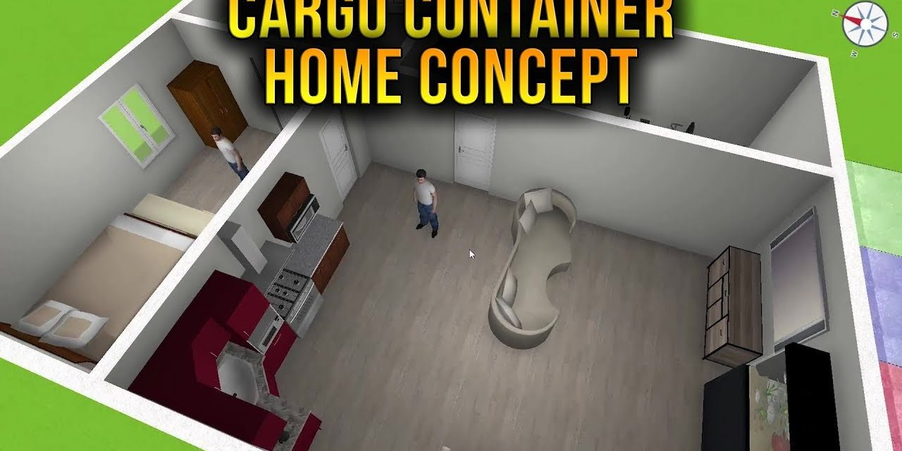 1113 Sqft Cargo Container House | Home Design 3D