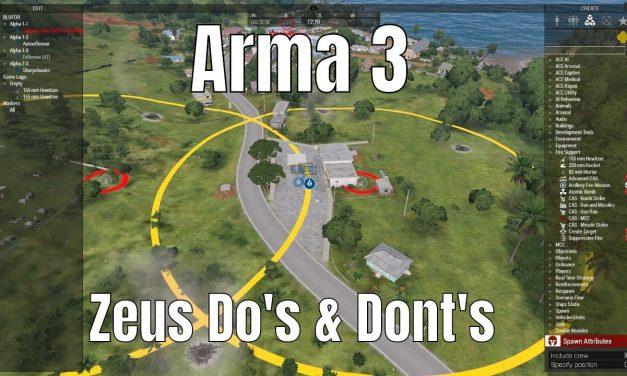 Arma 3 Zeus Do's & Don'ts #1