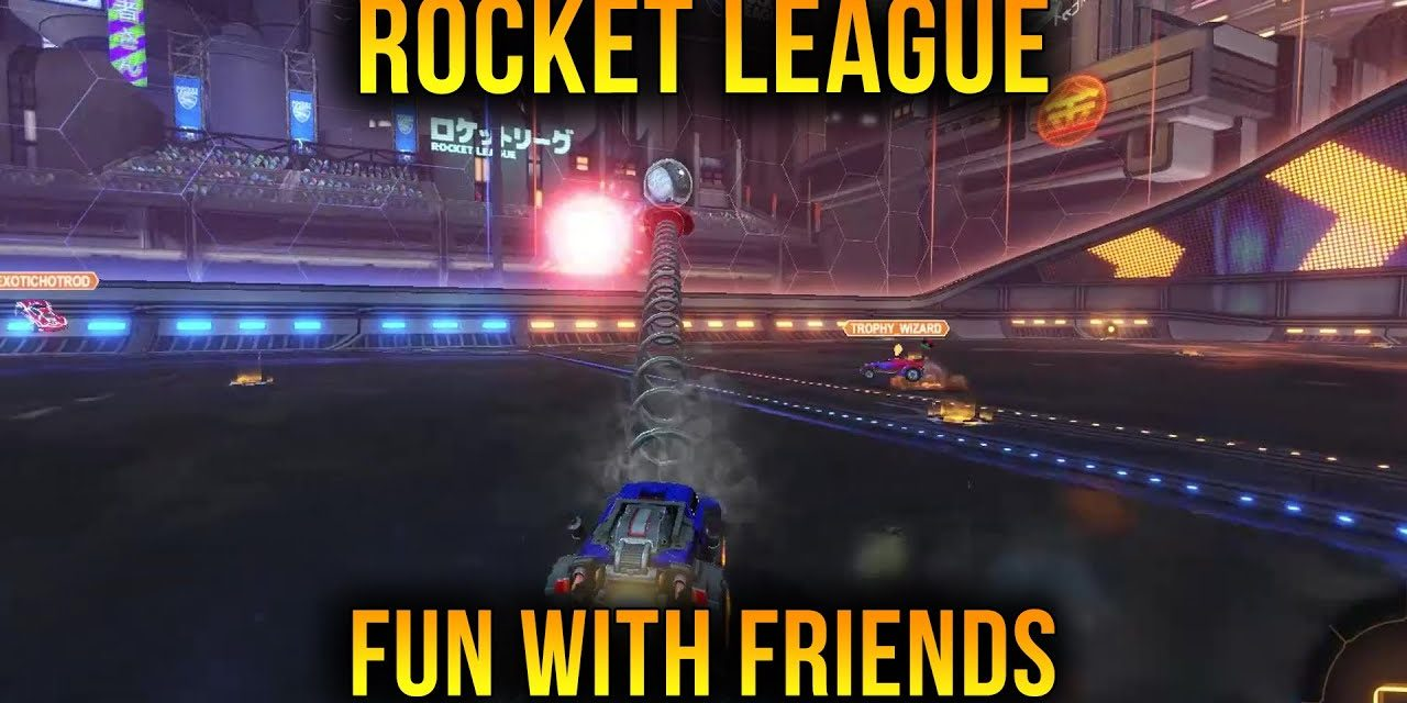 Having Fun With Friends In Rocket League