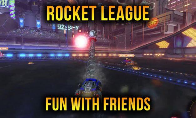 Having Fun With Friends In Rocket League