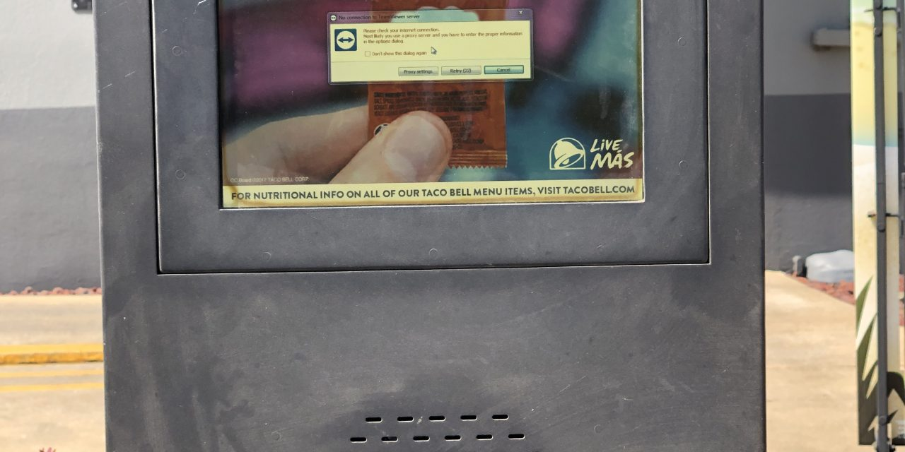 Taco Bell Uses TeamViewer?