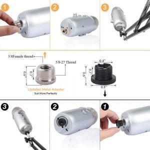 Eastshining Microphone Scissor Arm Review 2
