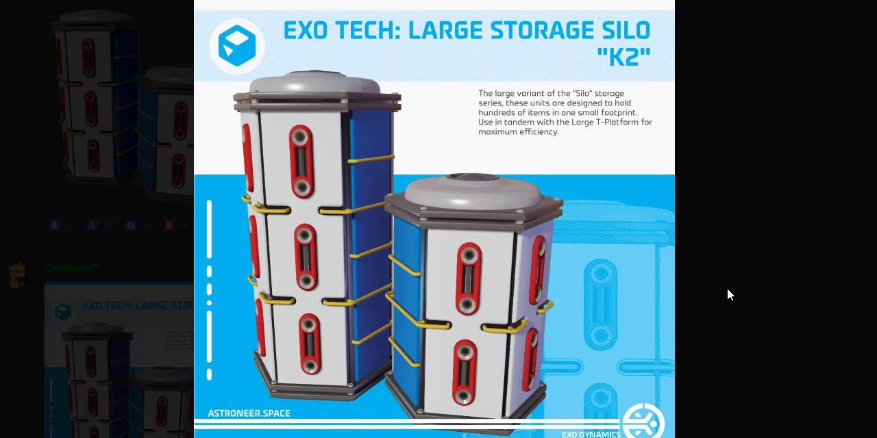 Astroneer News: Exo Tech Large Storage Silo K2