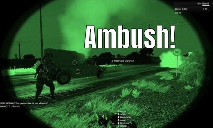 Hostile Vehicle Rams Convoy – ARMA 3 Highlight