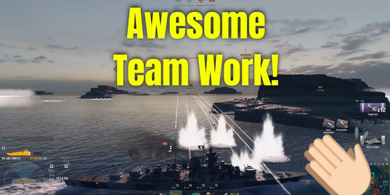 Excellent Teamwork With Tirpitz & 86K Damage Dealt – World Of Warships Gameplay