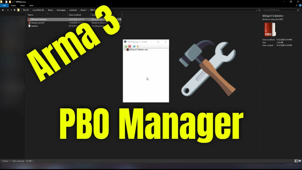 How To Use Arma 3 PBO Manager