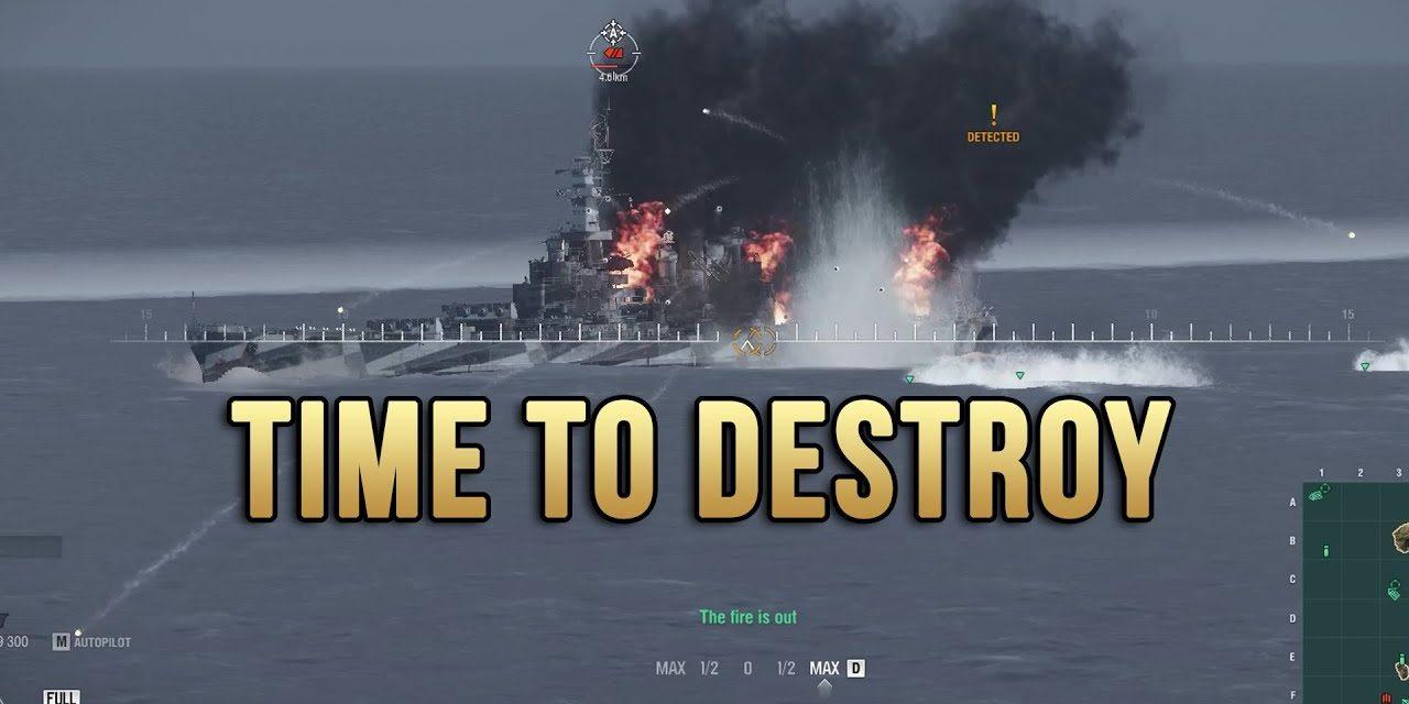 Tirpitz Destroying Bad Guys As Usual – World Of Warships