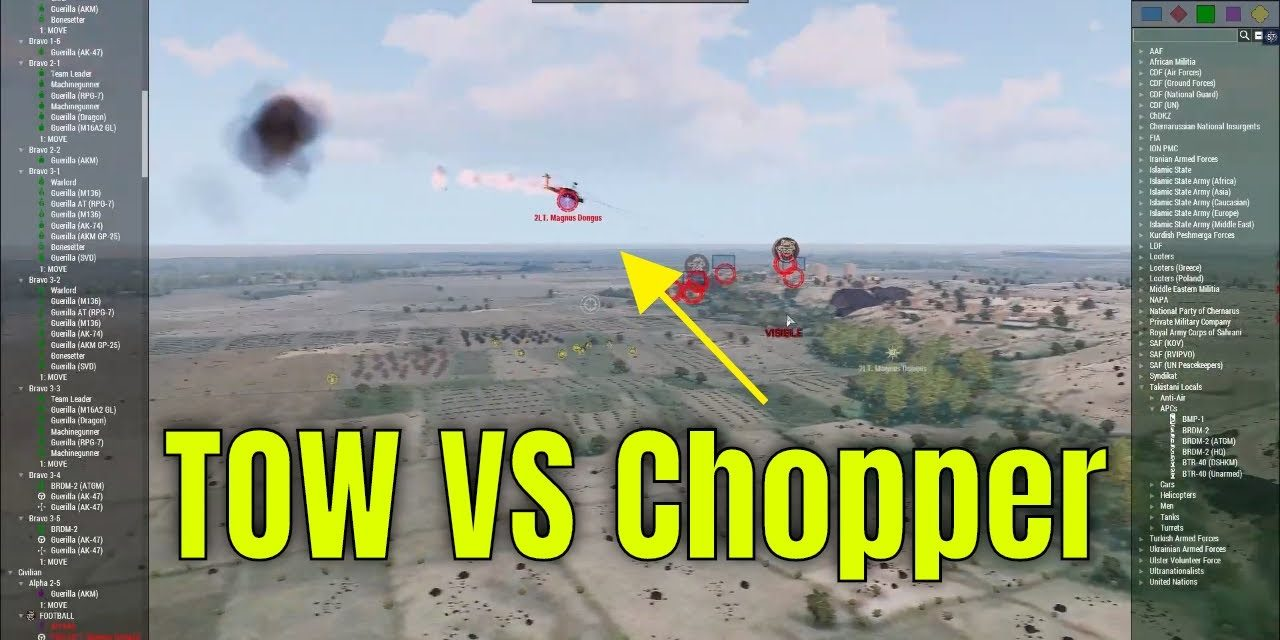 Arma 3 – TOW VS CHOPPER – 7.11.2020