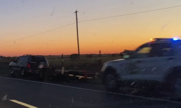 State Police Trooper Traffic Stop At Sunset