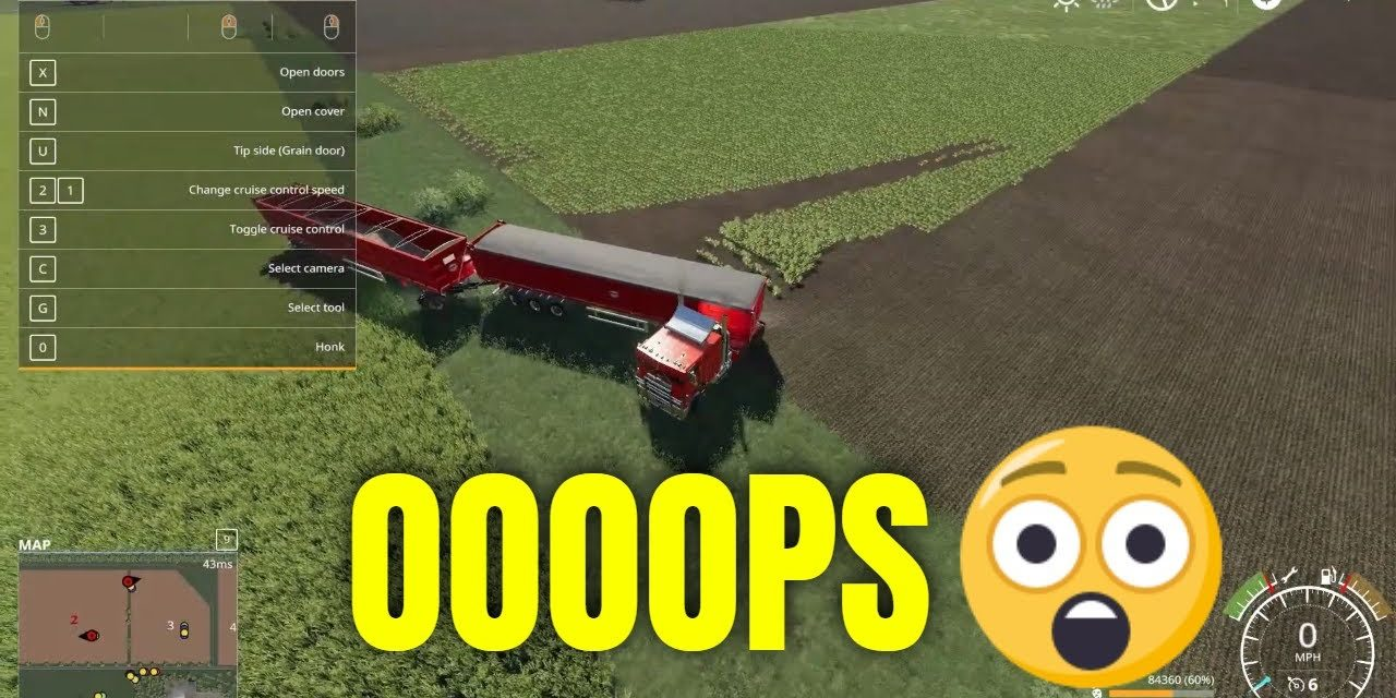 When you lag in Farming Simulator 2019